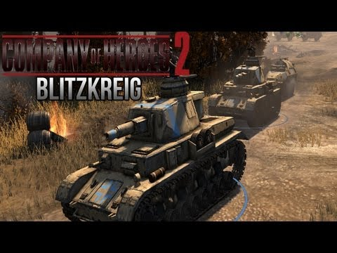 Company of Heroes 2 - Blitzkreig on General - Theater of War Gameplay 1/3