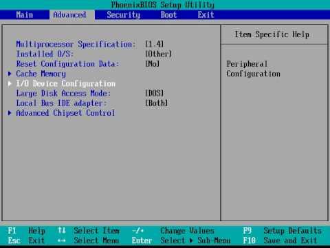 Insydeh20 bios setup utility