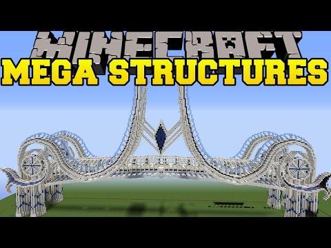 Minecraft Mega Structures Massive Bridge Airship Temple