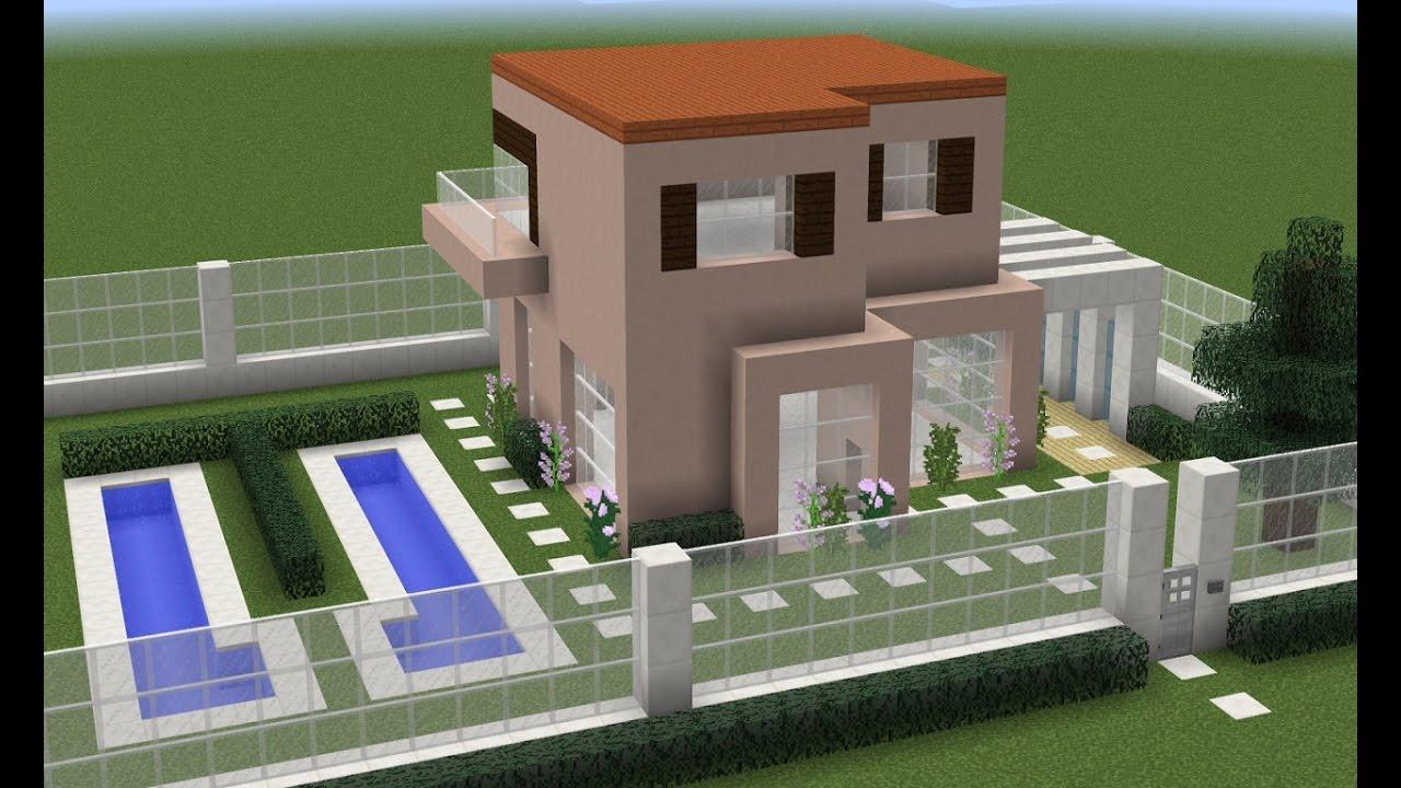 Como fazer uma casa moderna no minecraft pe console pc for Casa moderna 1 8