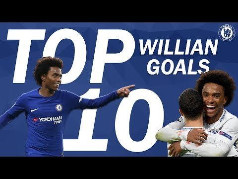 Top 10 Incredible Willian Goals | Chelsea Tops