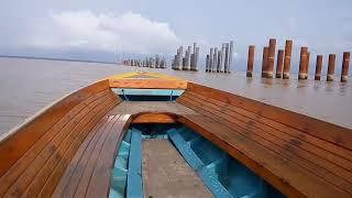Wow jembatan  temburong Brunei panjang sekali...