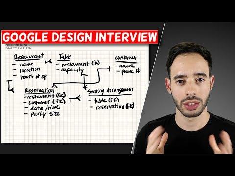 Google Software Engineer Design Interview: Reservation System