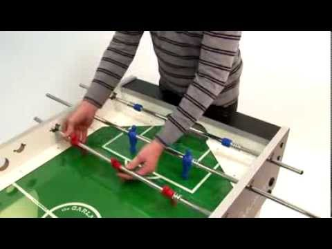 Garlando foosball table assembly with outgoing rods - YouTube