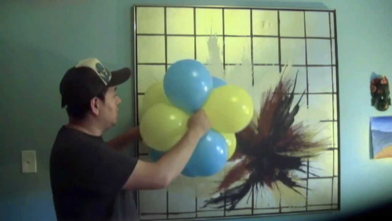 Como decorar con globos el amarre youtube for Como adornar con globos