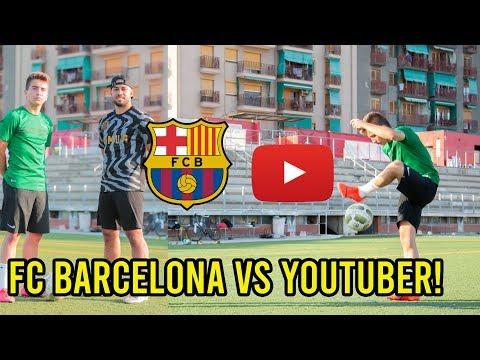FC BARCELONA U 16 TALENT VS YOUTUBER!