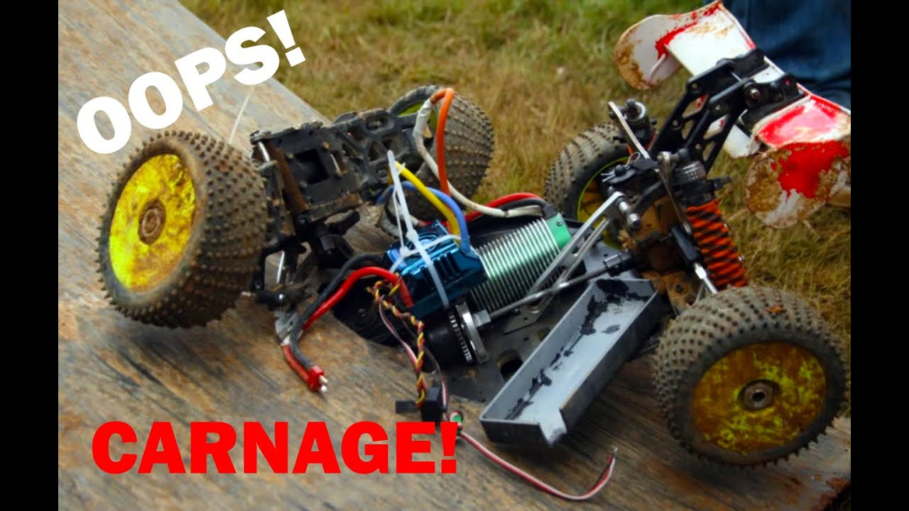 Skate Board Ramp >> RC car totally destroyed by a ramp! - YouTube