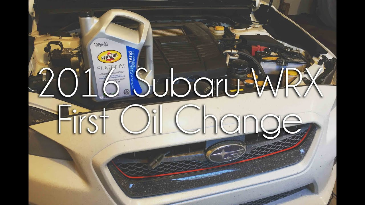 2016 WRX Oil Change - First Oil Change - YouTube