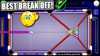 8 Ball Pool - BEST BREAK OFF EVER!! - How to Break in 8 Ball Pool - Road to 1B Coins Tips/Tricks