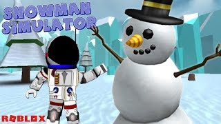 BUILDING THE BEST SNOWMAN!! - ROBLOX SNOWMAN SIMULATOR