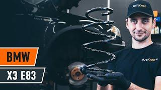 Kako zamenjati spredaj vzmet amortizerja naBMW X3 E83 [VODIČ AUTODOC]