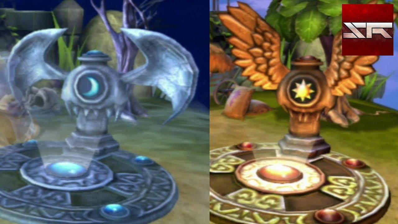 Dark And Light Element Symbols Seen In The Darklight Crypt