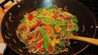 Spicy Beef Noodle Stirfry