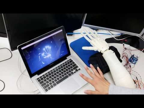 Robotic Hand controlled by Leap Motion