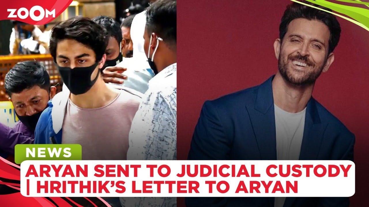 Aryan Khan sent to 14-day judicial custody | Hrithik Roshan pens emotional letter to Aryan