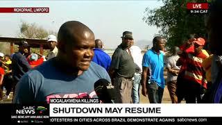 Shutdown to resume in Mokopane