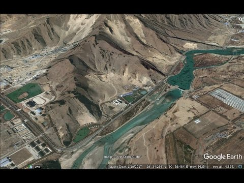 Chinese Roads near the Tibet-Arunachal border - a Google Ear