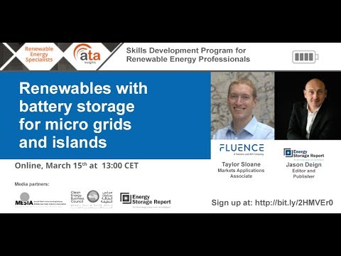 Renewables with battery storage for micro grids and islands