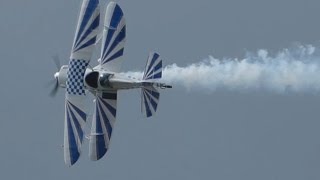 Trescal's Stolp SA-300 Starduster Too F-PFJP display at Farnborough International Airshow 2014