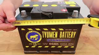 автомобильный аккумулятор Тюмень Standard 60R: обзор аккумулятора