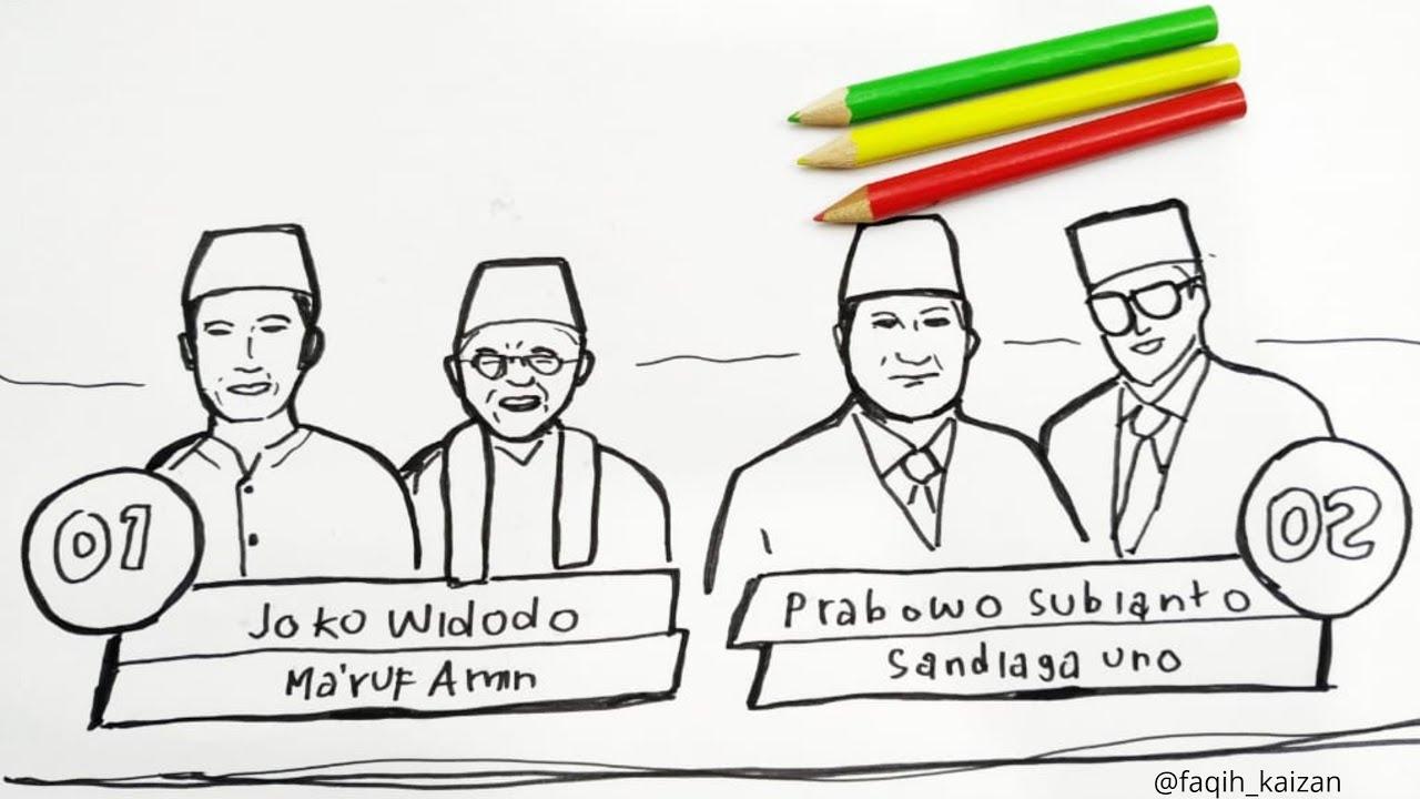 Menggambar Dan Mewarnai Debat Capres 2019