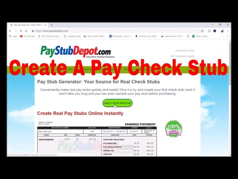 How To Create A Pay Check Stub For Your Employee Using PayStubDepot