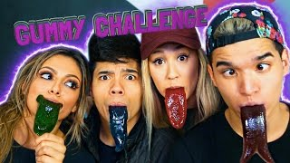 GUMMY TONGUE CHALLENGE! ft. LaurDIY DTrix & Bethany Mota