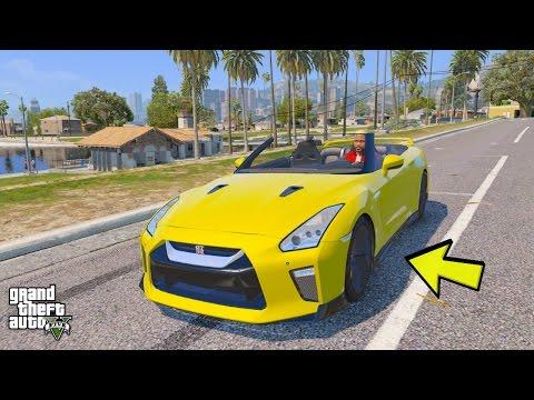 GTA 5 REAL LIFE MOD #271 MY NEW 2017 NISSAN GTR R35 CONVERTIBLE CAR!