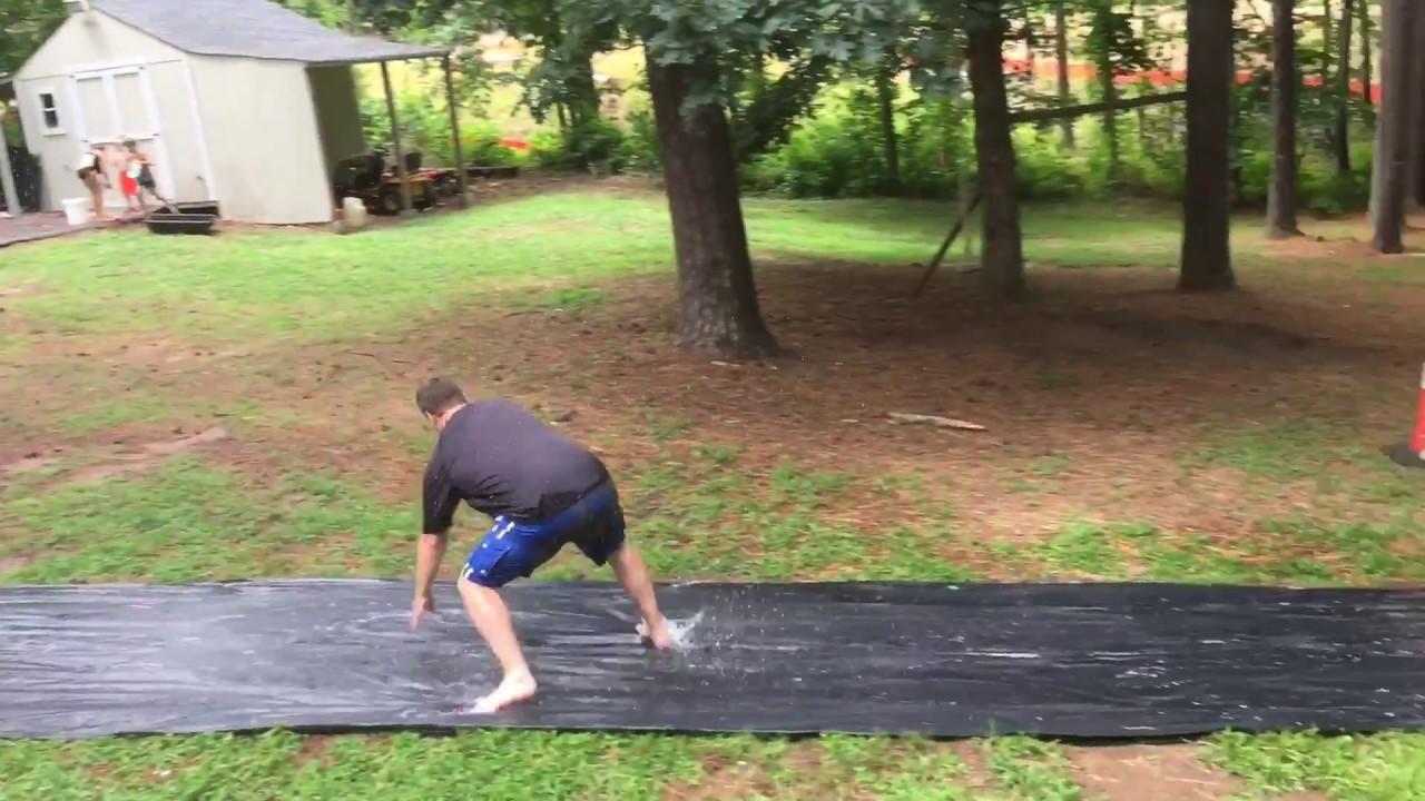 Slip And Slide 100 Feet Long Youtube