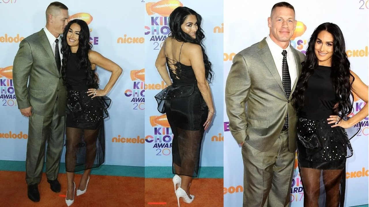 John Cena and girlfriend Nikki Bella kick 2017 video - YouTube