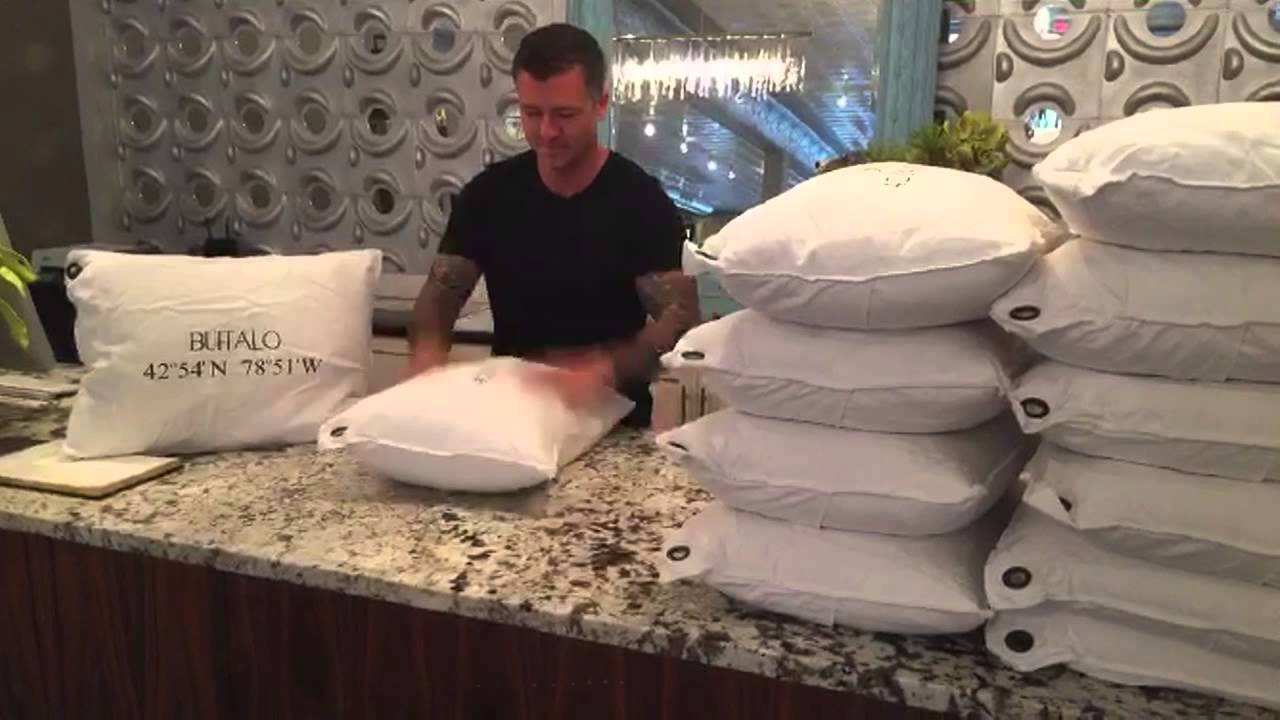 how to properly fluff a pillow youtube. Black Bedroom Furniture Sets. Home Design Ideas