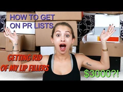 PR UNBOXING $3000 WORTH OF MAKEUP | HOW TO GET ON PR LISTS