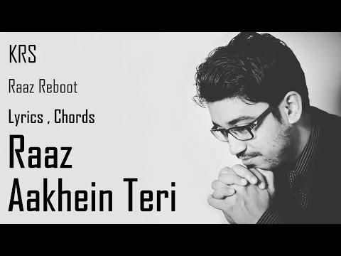 Raaz Aankhein Teri Karaoke Chords  Instrumental   Raaz Reboot   Arijit Singh   KRS