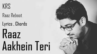 Raaz Aankhein Teri Karaoke Chords| Instrumental | Raaz Reboot | Arijit Singh | KRS
