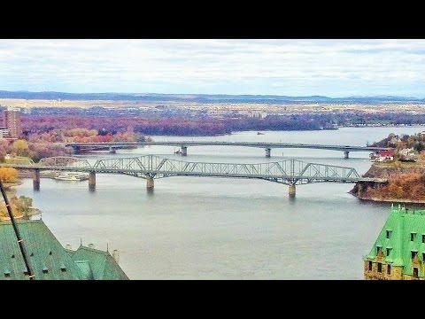 Gatineau (Quebec) drive - Municipal dock on Ottawa River (with music)