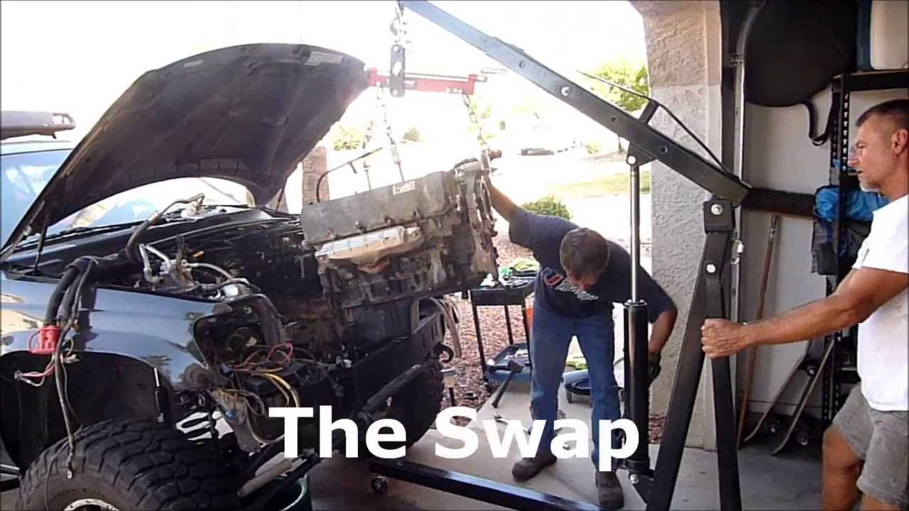 2003 Grand Cherokee 4 7 Ho Engine Swap Youtube