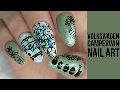 I Got A Camper Van - VW Inspired Nail Art