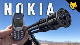 Nokia 3310 vs Vulcan 20mm on a Toyota Prius