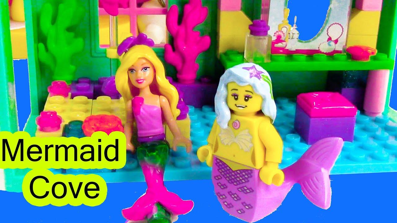Uncategorized Mermaid Barbie Videos mermaid barbie underwater cove home playset mini doll mega bloks lego toy opening youtube