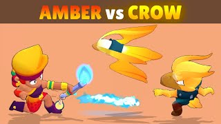 AMBER vs CROW | 22 Tests | Best FIRE LEGENDARY in Brawl Stars! 🔥