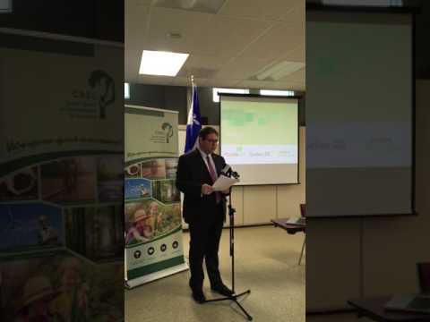 Conférence de presse Par notre propre énergie - Pierre-Luc Bellerose