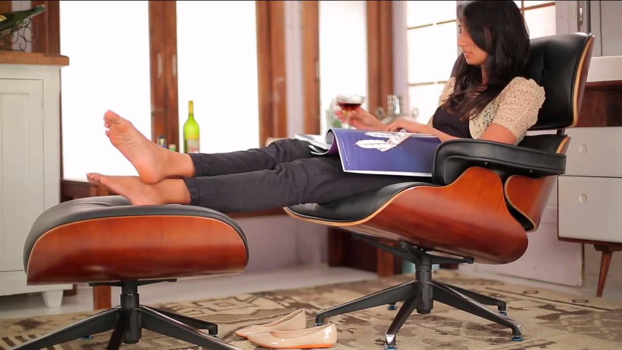 Eames Lounge Stoel Replica.1956 Lounge Chair Ottoman Replica