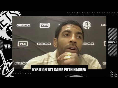 Kyrie Irving talks first game back from absence, playing with James Harden | NBA on ESPN