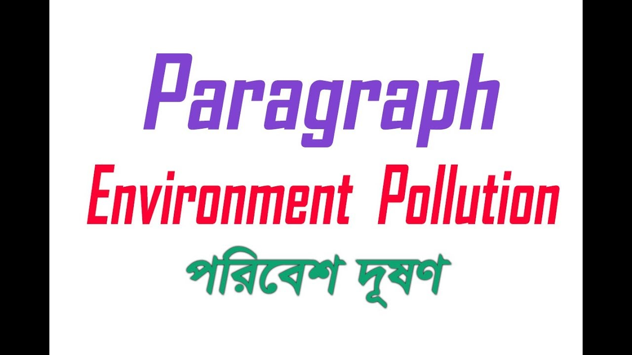 paragraph on environment