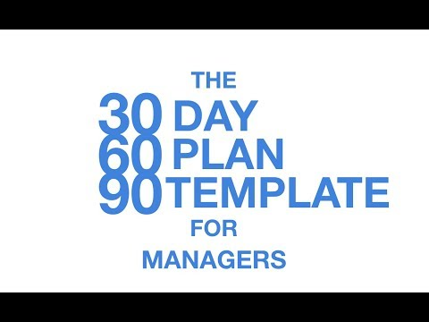 The 30 60 90 Day Plan Template for Managers - YouTube