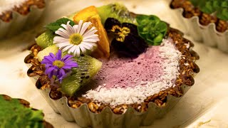 Tortine di Frutta con Crema Rosa di Pitaya