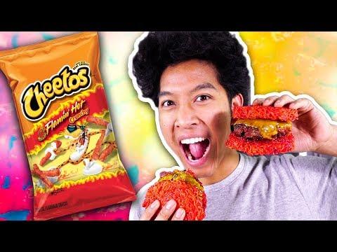 Hot Cheetos Ramen Burger!!!