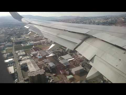 PHILIPPINE AIRLINES PR426 Manila to Fukuoka landing 6Jan2018