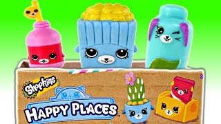 New Happy Places Shopkins Blind Boxes Special Kity Kitchen 1Tile + 3 Petkins