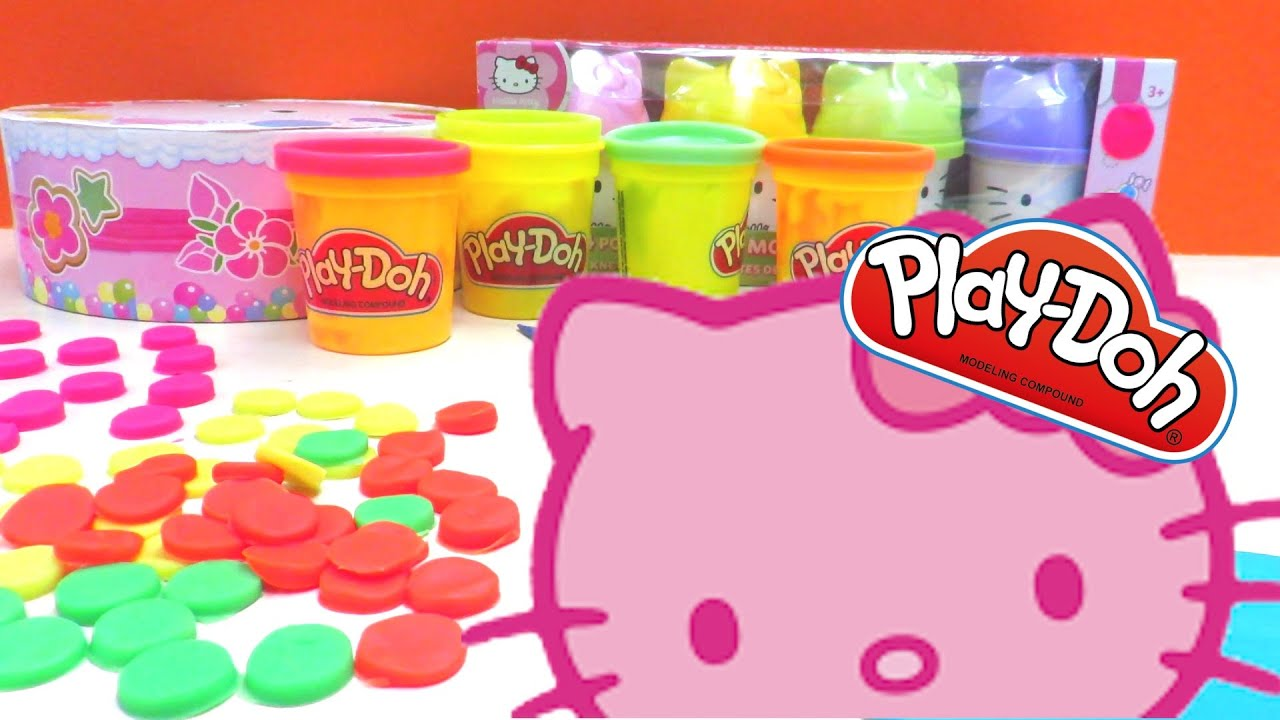 Hello Kitty PlayDoh Birthday Cake YouTube